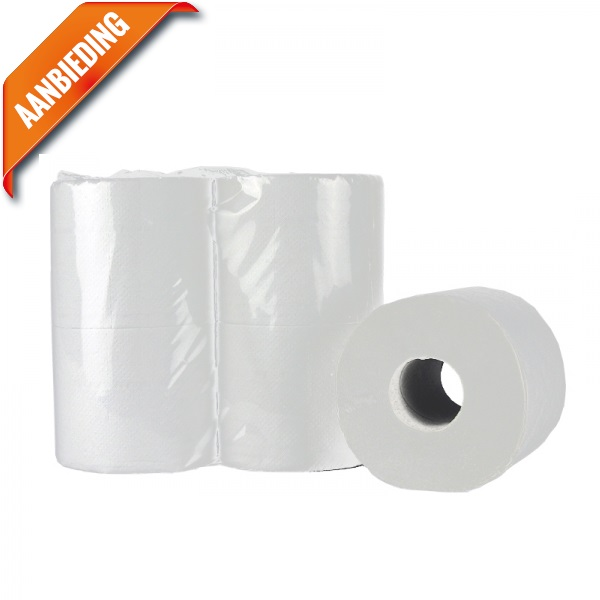 Toiletpapier tissue wit 2 laags 400 vel
